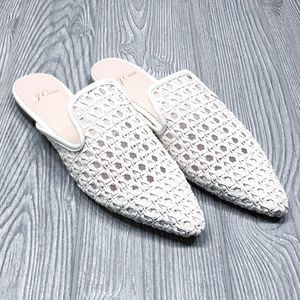 J. Crew pointed toe woven slide mules size 7 NEW